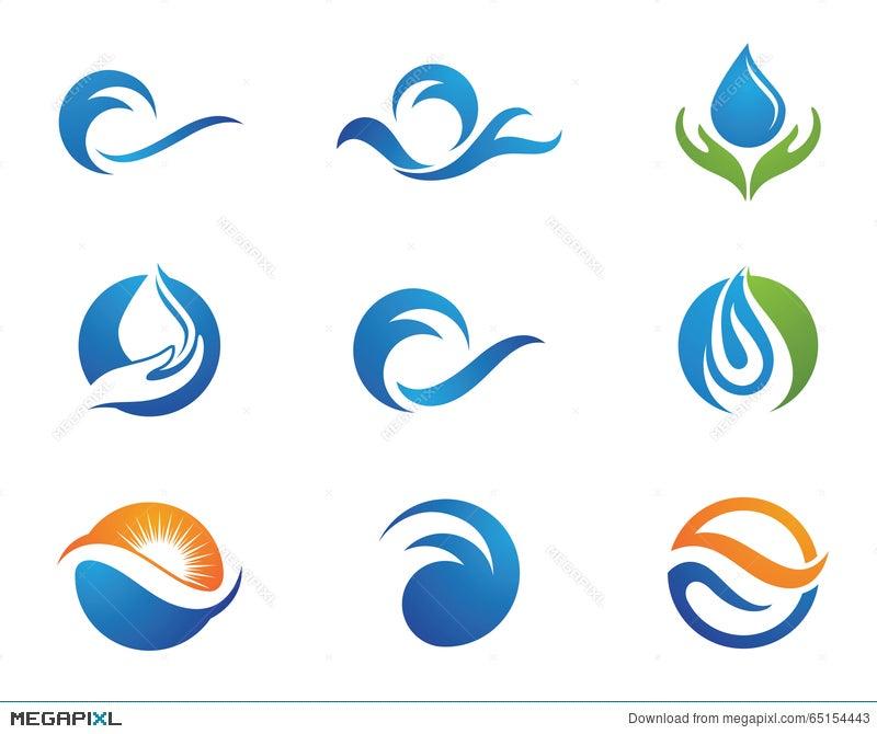 Water Droplet Logo Template Illustration 65154443 Megapixl