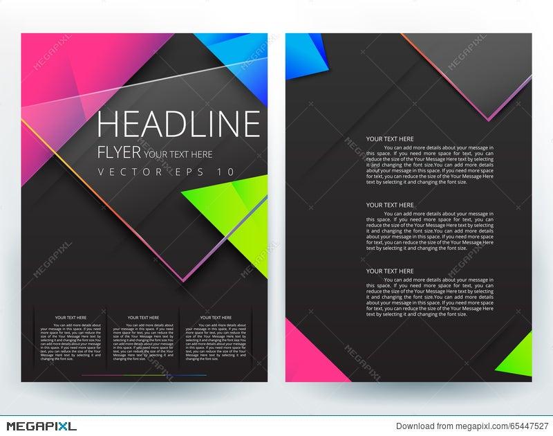 Abstract Vector Modern Flyers Brochure Design Templates Illustration