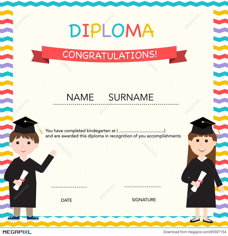 Certificate of kids diploma preschoolkindergarten template certificate of kids diploma preschoolkindergarten template yelopaper Image collections