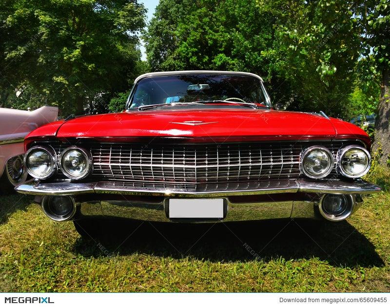 Cadillac Classic American Vintage Cars Stock Photo 65609455 - Megapixl