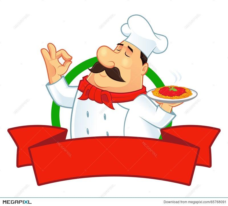 chef logo character illustration 65768091 megapixl