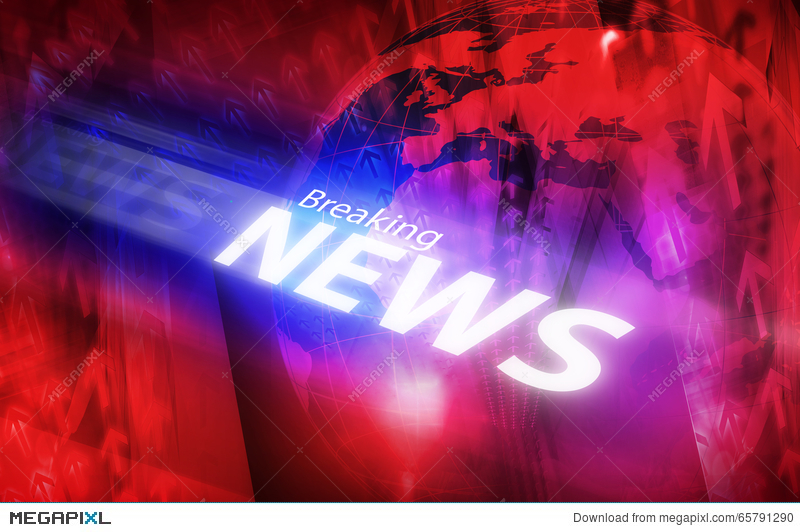 Graphical Modern Digital World Breaking News Background Illustration