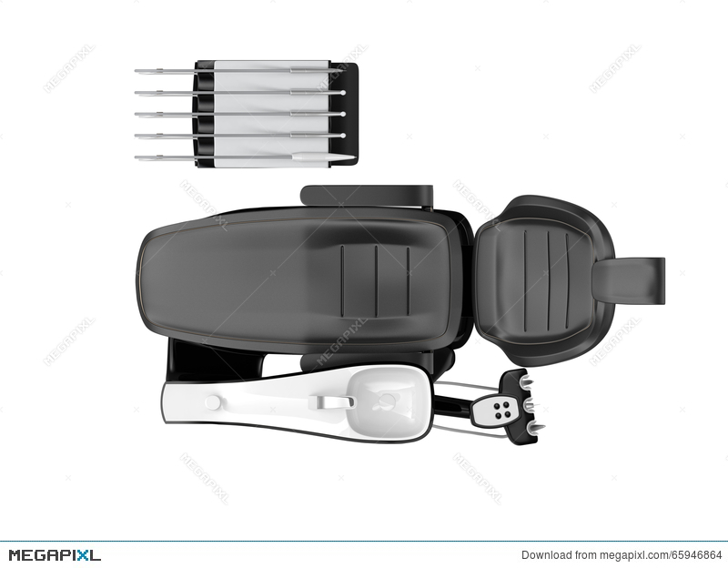 Top View Of Dentist Chair On White Background Illustration 65946864 ...
