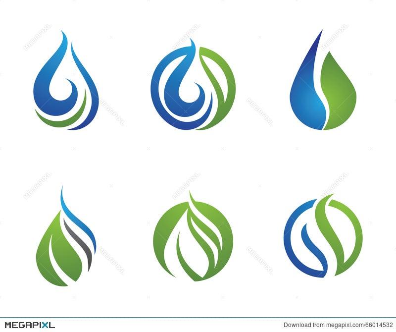 Water Droplet Logo Template Illustration 66014532 Megapixl