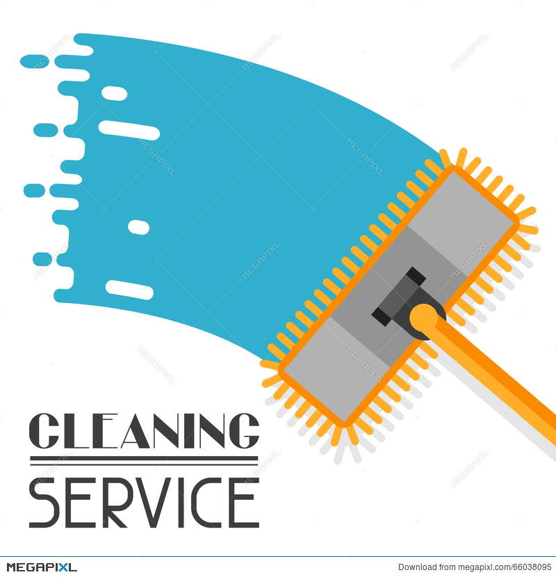 housekeeping background with mop image can be used on advertising