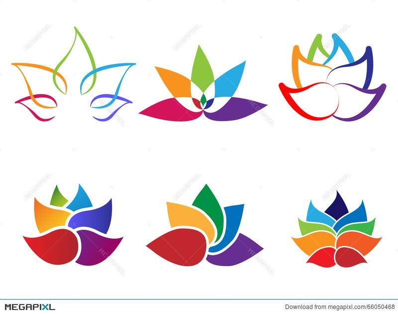 Rainbow lotus flower abstract logo illustration 66050468 megapixl rainbow lotus flower abstract logo mightylinksfo