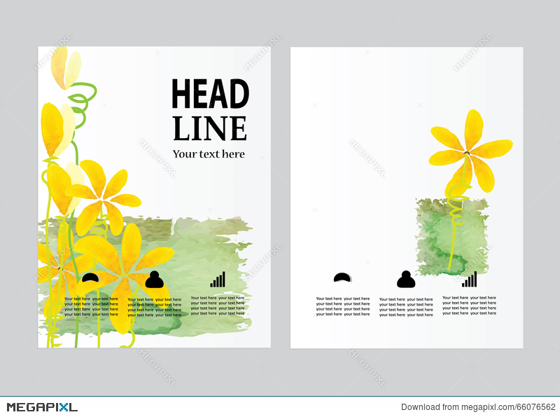 Vector Brochure Flyer Design Layout Template, Size A4, Front