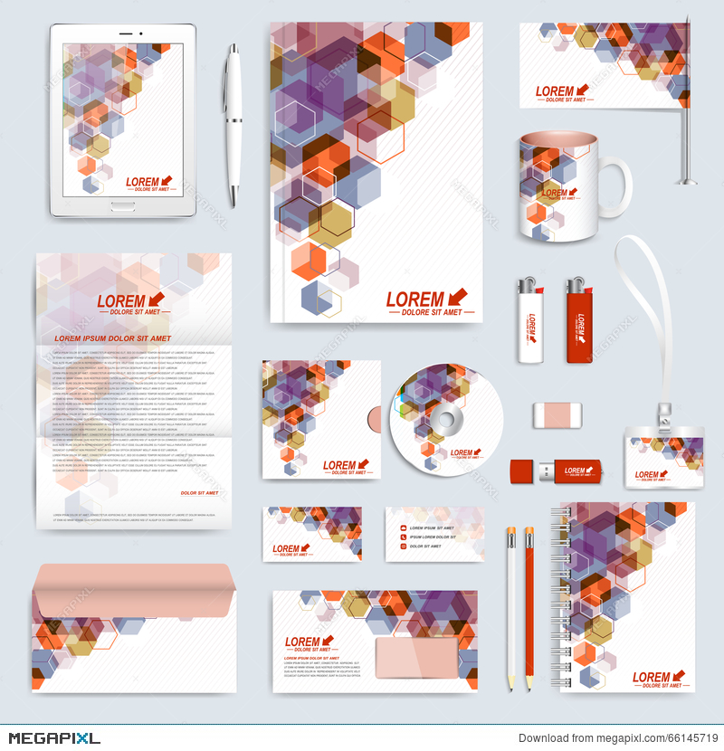 Set Of Vector Corporate Identity Template. Modern Business ...
