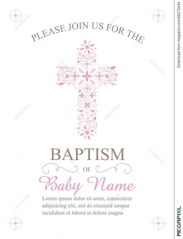 Baptism Christening Communion Or Confirmation Invitation Template