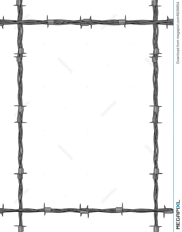 Barbed Wire Frame Illustration 6636854 - Megapixl