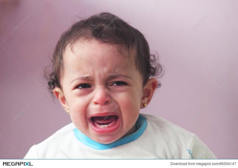 crying angry baby girl stock photo 66304147 megapixl