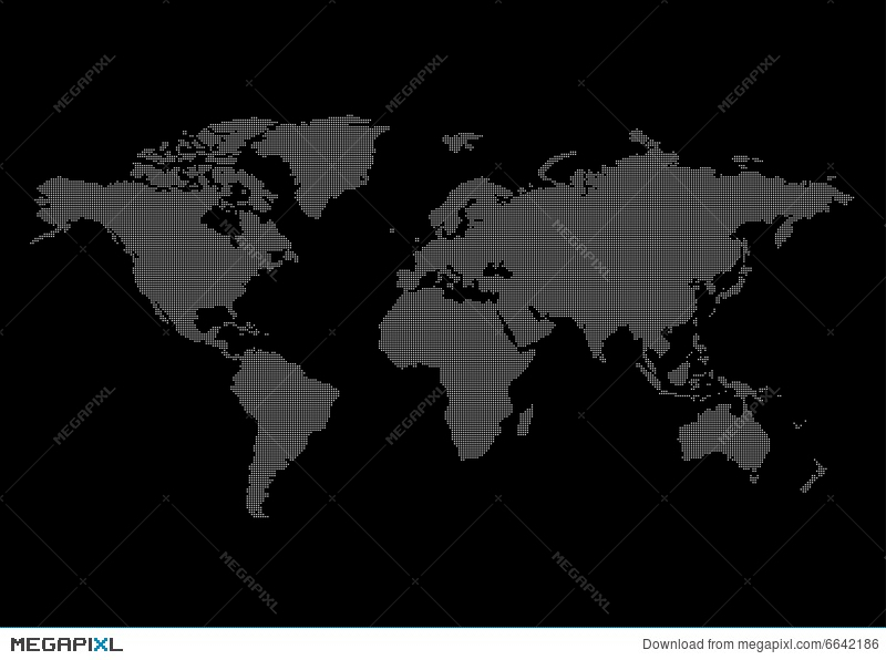 World map black background illustration 6642186 megapixl world map black background gumiabroncs Gallery