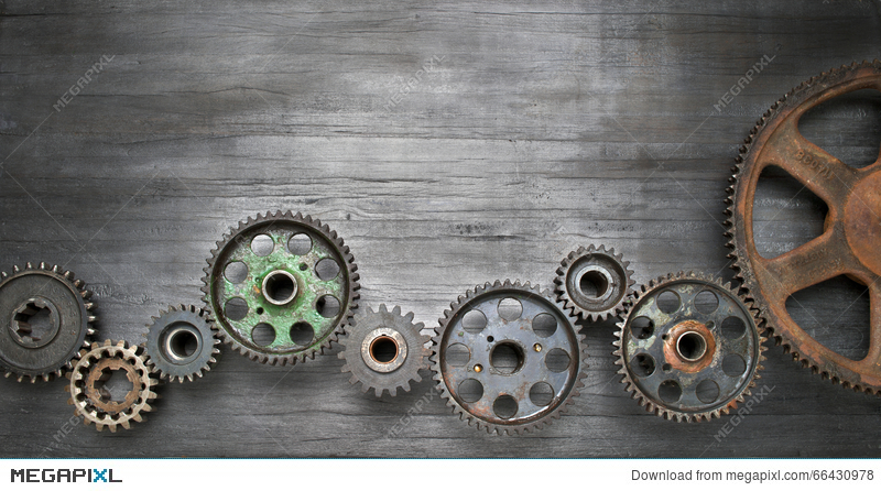 Industrial Cogs Technology Banner Background