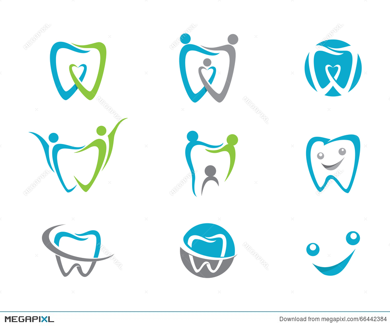 Dental Logo Template Illustration 66442384 Megapixl