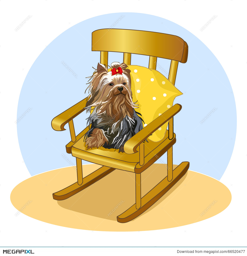 Amazing Small Dog With Bow Sitting On Rocking Chair Yorkshire Squirreltailoven Fun Painted Chair Ideas Images Squirreltailovenorg