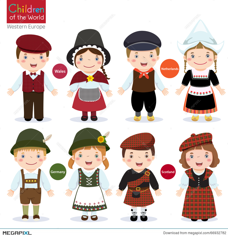 Kids in different traditional costumes  sc 1 st  Megapixl & Kids In Different Traditional Costumes Illustration 66932782 - Megapixl