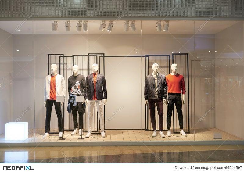 f472fea0eea Boutique Store Fashion Shop Window Front Led Light Stock Photo ...