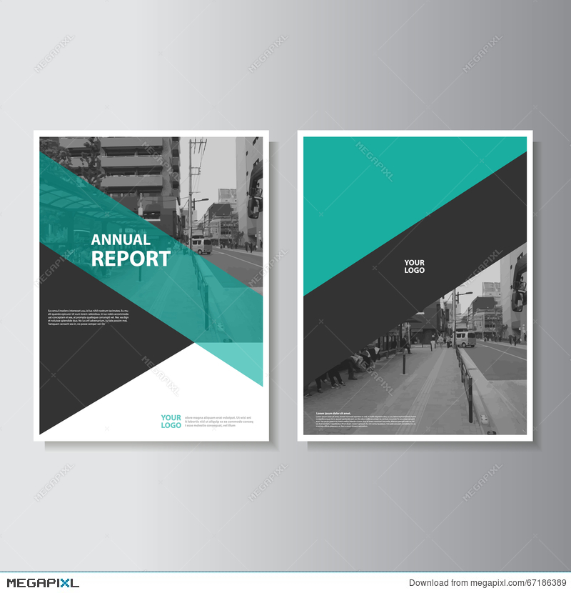 Vector leaflet brochure flyer template a4 size design annual report royalty free maxwellsz