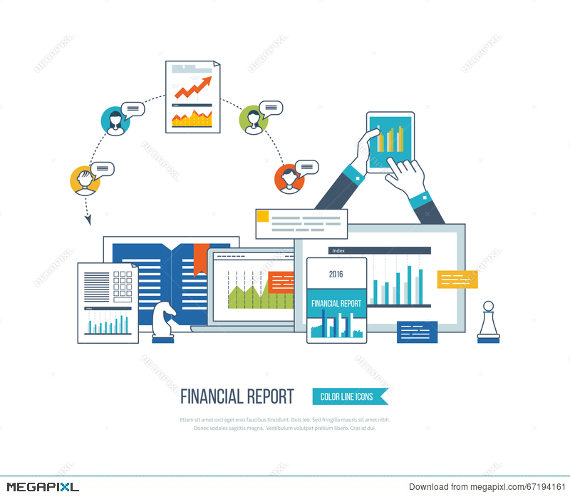 Financial Report, Consulting, Teamwork, Project Management And