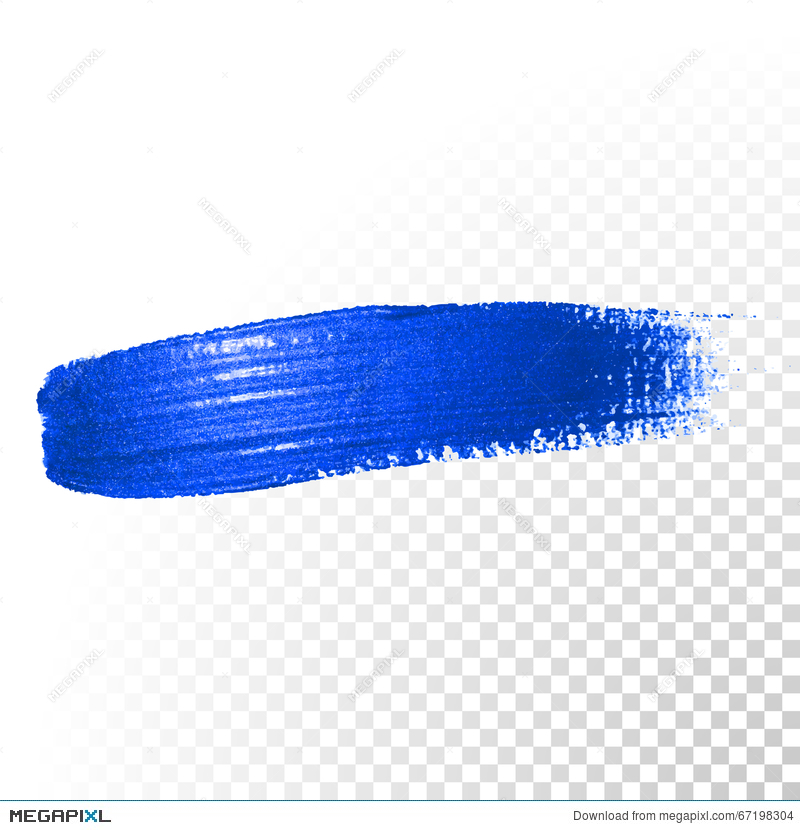 Paint Brush Stroke Blue Blue Gradient Painted Brush