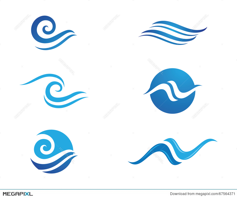 ocean wave logos awesome graphic library