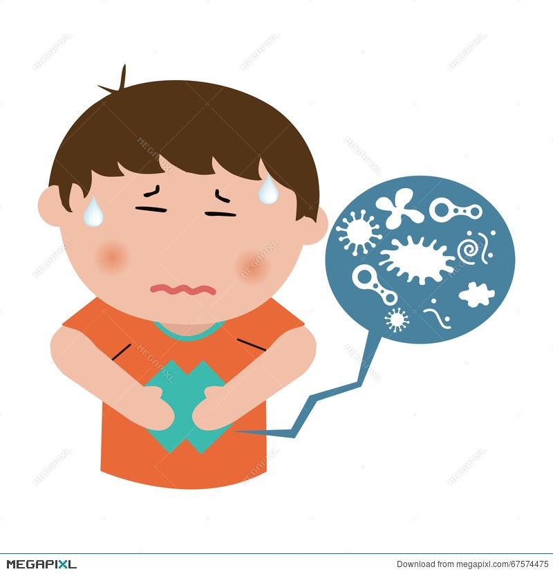 Child Abdominal Pain Illustration 67574475