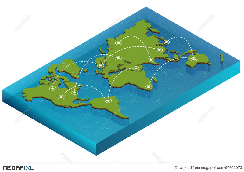 Map world isometric concept 3d flat illustration of map world map world isometric concept 3d flat illustration of map world vector world map connection gumiabroncs Choice Image