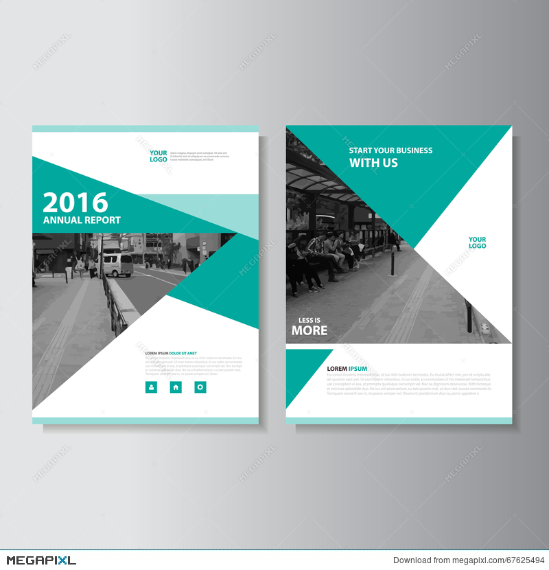 Green Vector Magazine Annual Report Leaflet Brochure Flyer Template