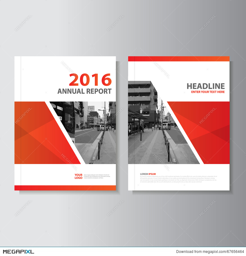 Red Vector Annual Report Magazine Leaflet Brochure Flyer Template - Brochure flyer templates