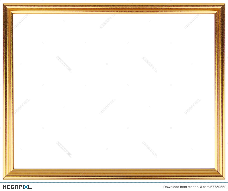 Gold Vintage Frame Isolated On White. Gold Frame Simple Design ...