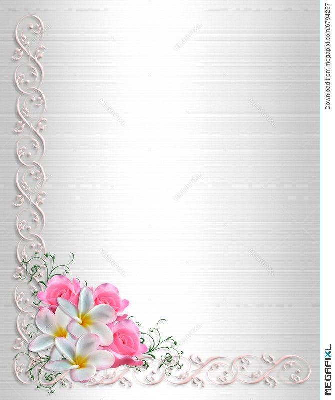 Wedding Invitation Background Floral Border Illustration