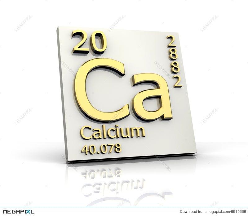 Calcium Form Periodic Table Of Elements Illustration 6814686 Megapixl
