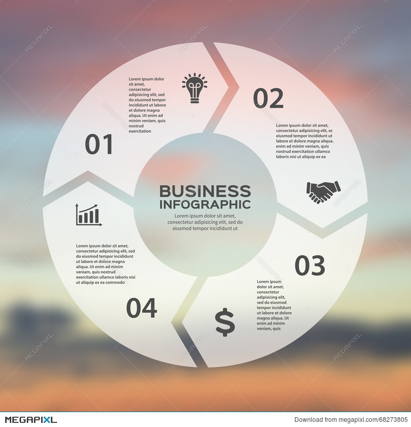 Vector circle arrows linear infographic template for cycle diagram royalty free ccuart Images