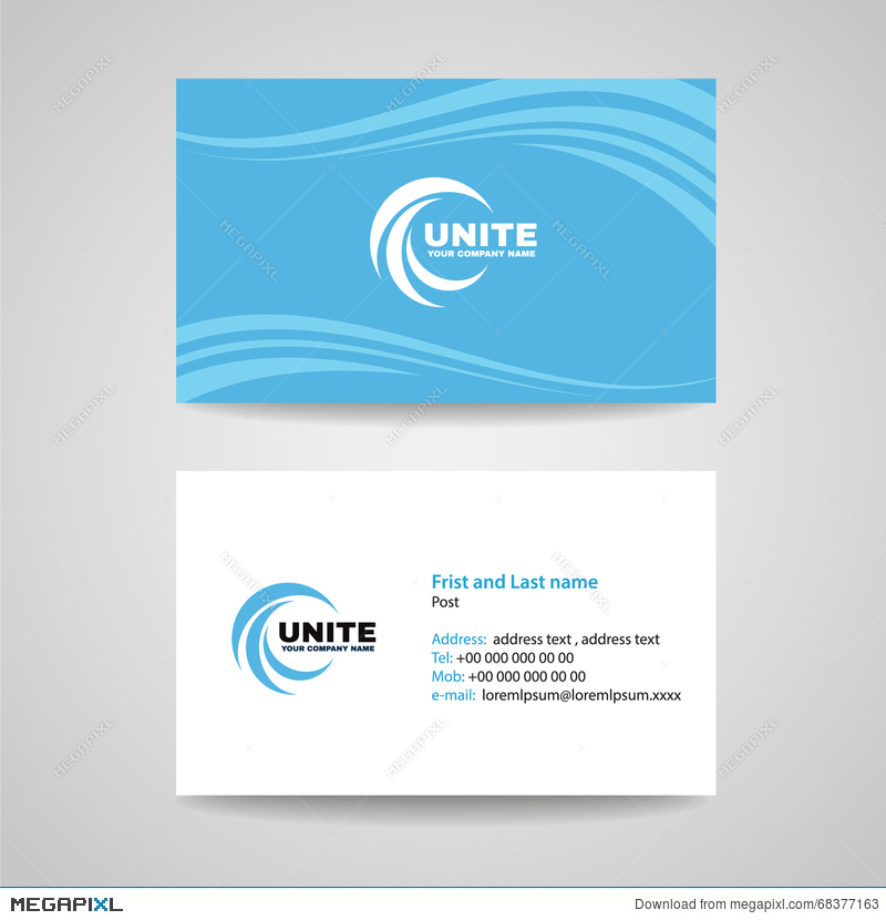 Business card background template blue sky wave style vector business card background template blue sky wave style vector design colourmoves