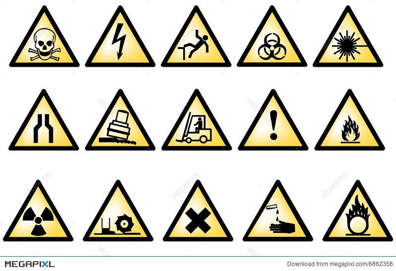 Vectorial Danger Symbols Illustration 6862358 Megapixl