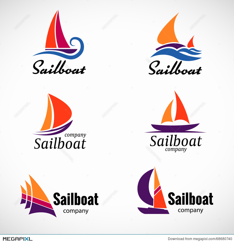 Sailboat logo vector set design element with business card template sailboat logo vector set design element with business card template reheart Gallery