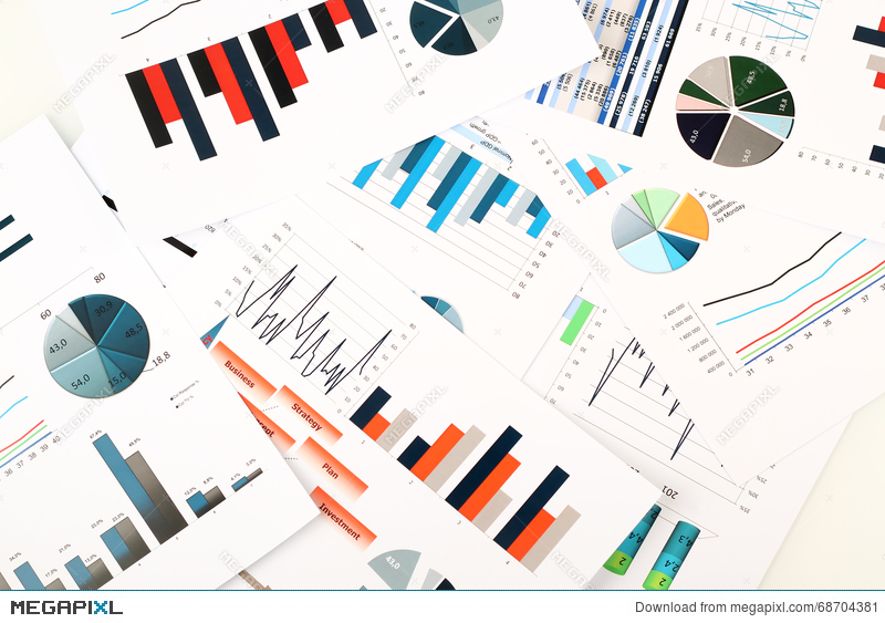 colorful graphs charts marketing research and business annual