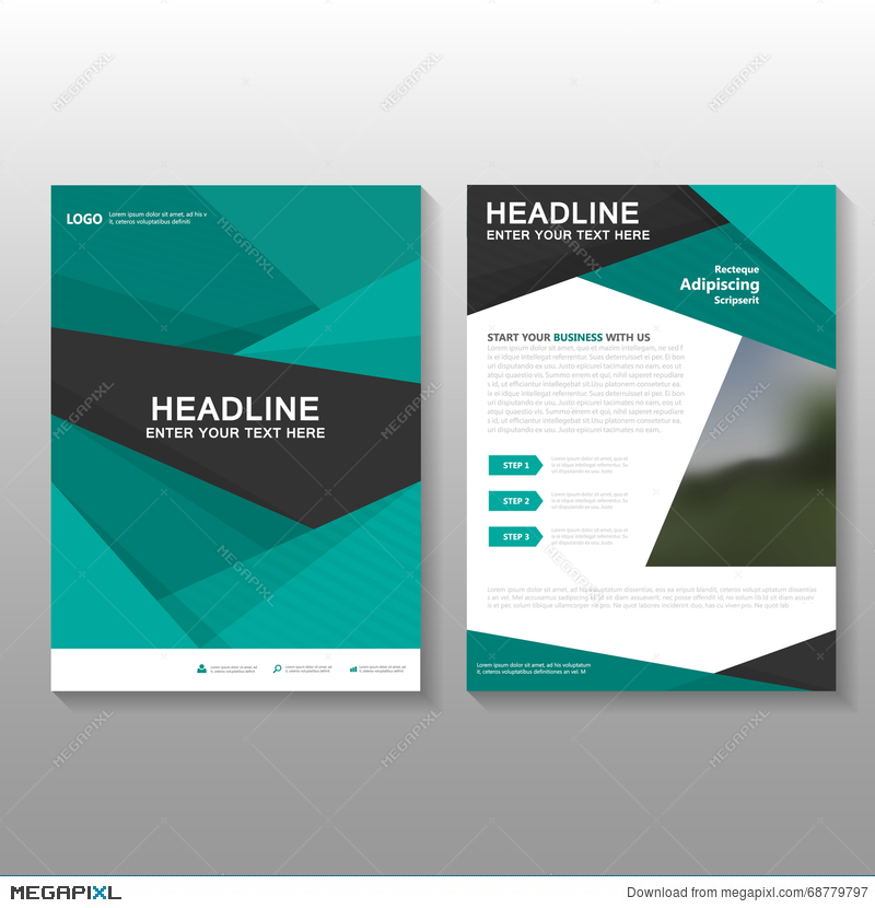 abstract green vector leaflet brochure flyer business proposal
