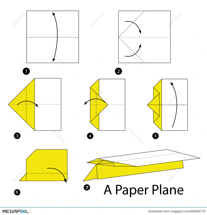 Step By Step Instructions How To Make Origami A Paper Plane