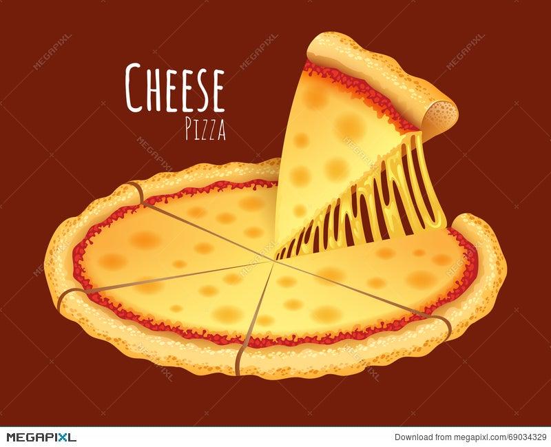 cheese pizza illustration 69034329 megapixl rh megapixl com Pizza Toppings Clip Art cheese pizza clipart