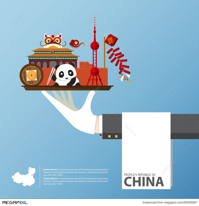 Travel To China Infographic Set Of Flat Icons Of Chinese