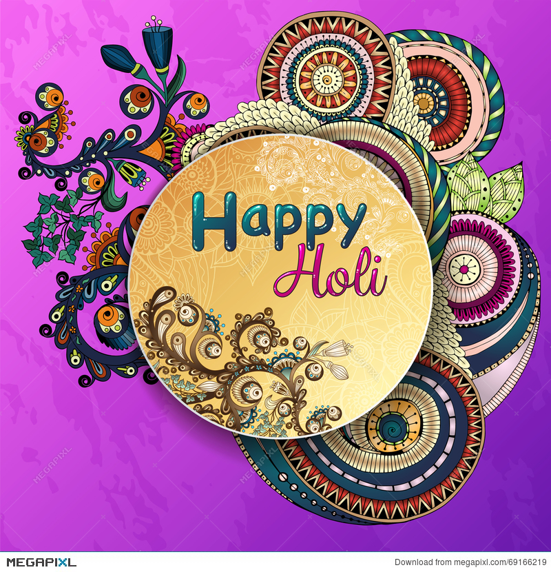 Vector Template Poster. Indian Festival Happy Holi Celebrations ...