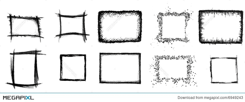 10 Artistic Frames Illustration 6949243 - Megapixl