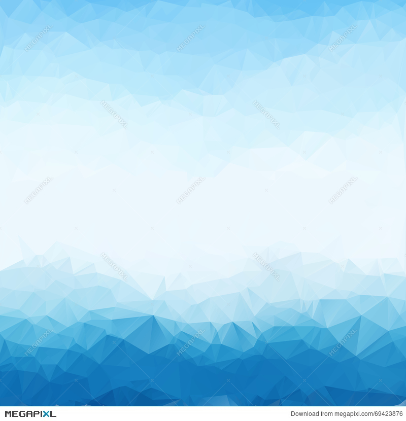 Light Blue Bright Triangle Polygon Background Frame
