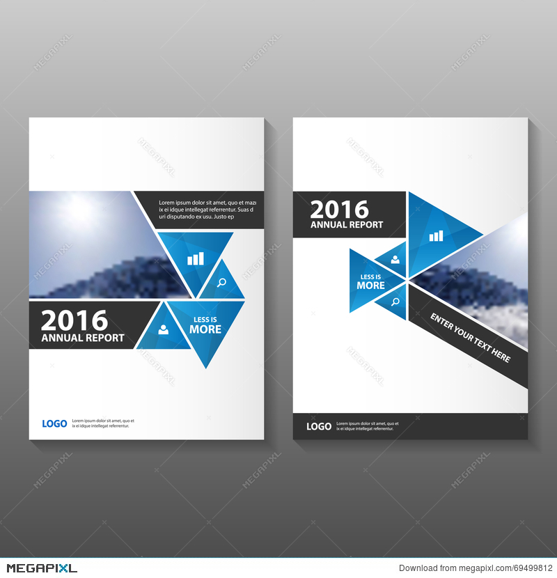 Abstract Black Blue Annual Report Leaflet Brochure Flyer Template