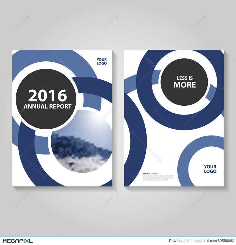 Circle Blue Annual Report Leaflet Brochure Flyer Template Design
