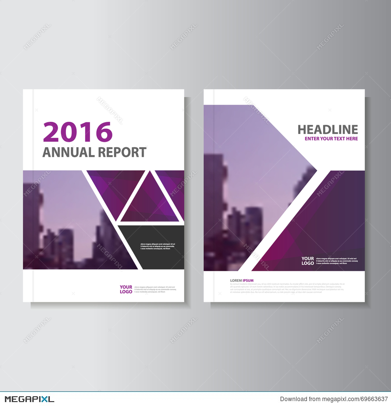 Triangle Purple Annual Report Leaflet Brochure Flyer Template - Brochure flyer templates