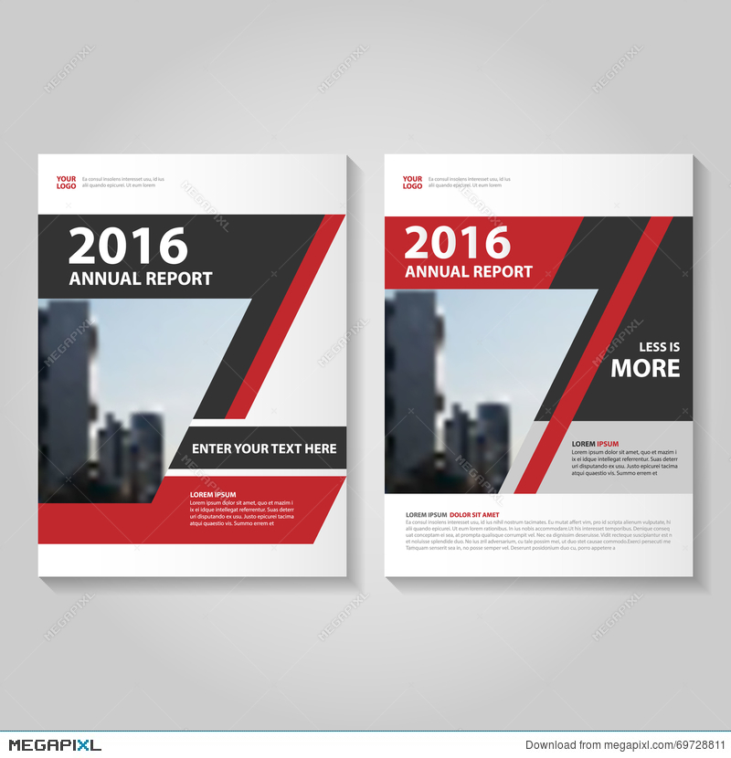 Abstract Red Black Annual Report Leaflet Brochure Flyer Template - Brochure flyer templates