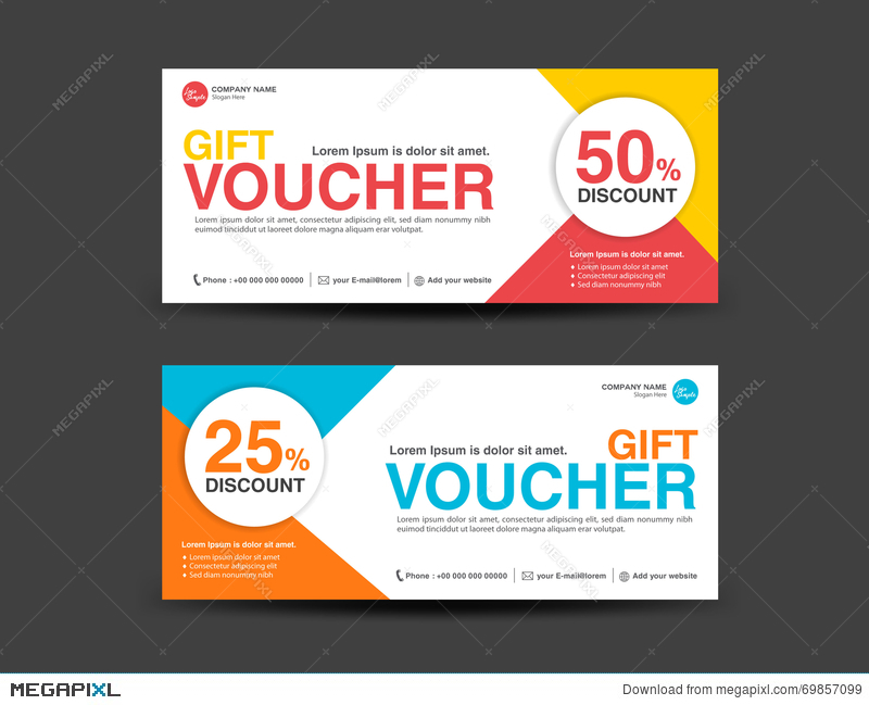 Lovely Discount Voucher Template, Coupon Design,ticket, Banner Template For Free Discount Vouchers