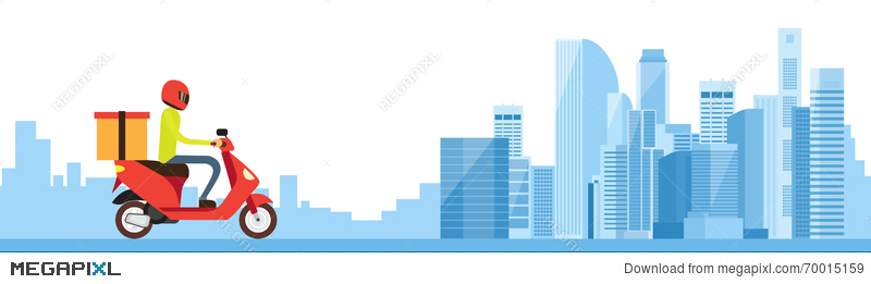 Express delivery background illustration vector 05 - WeLoveSoLo | 261x800